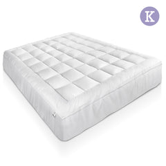 1000GSM Duck Feather Down Mattress Topper King
