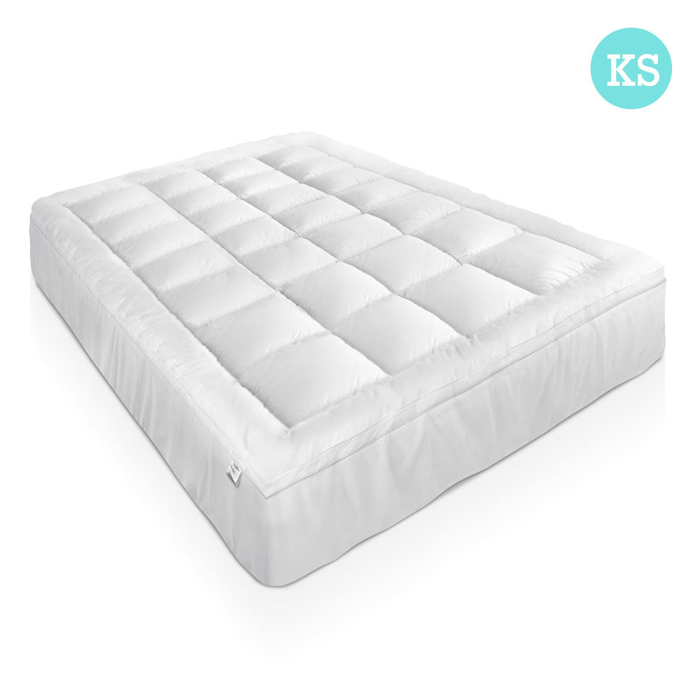 1000GSM Duck Feather Down Mattress Topper King Single