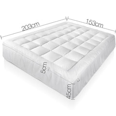 1000GSM Duck Feather Down Mattress Topper Queen