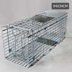 Humane Animal Trap Cage 94 x 34 x 36cm