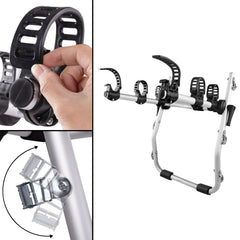 Foldable Aluminium Strap-On 3 Bicycle Bike Rack Carrier