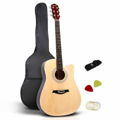 "41"" Steel-Stringed Acoustic Guitar Natural"