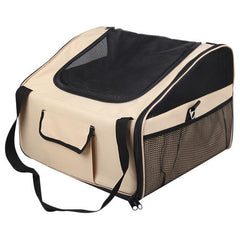 Pet Dog Cat Car Seat Carrier Travel Bag Small Beige