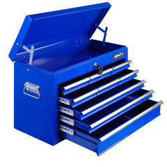 9 Drawers Tool Box Chest Blue