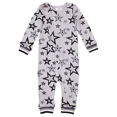 CHIKHI | Skinny Onesie - Light Grey Star