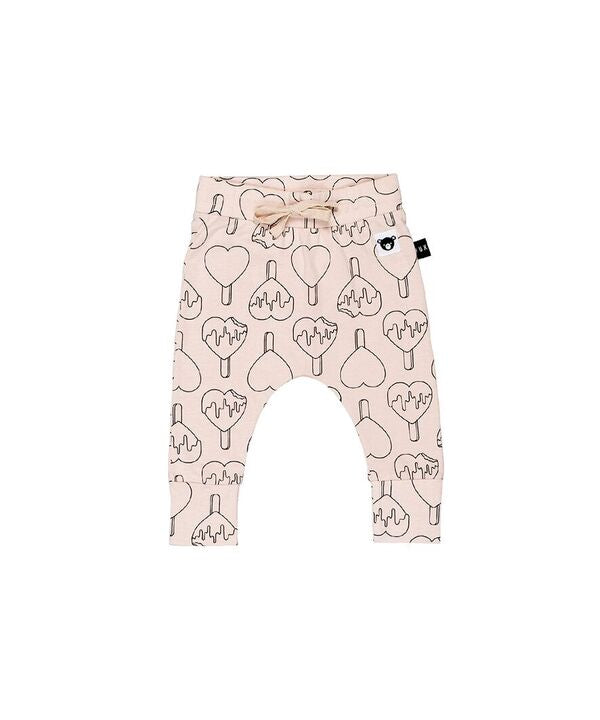 HUXBABY | Heart Pop Drop Crotch Pants 0-3m