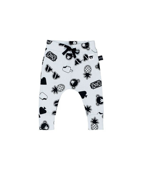 HUXBABY | Patches Drop Crotch Pants