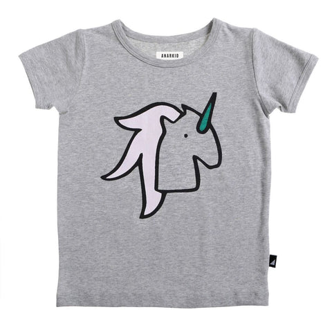ANARKID | Unicorn SS Tee- Grey Marle