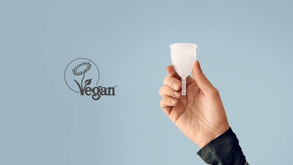 Lunette menstrual cup is registered with the Vegan Society!