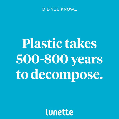 Plastic takes 500-800 years to decompose