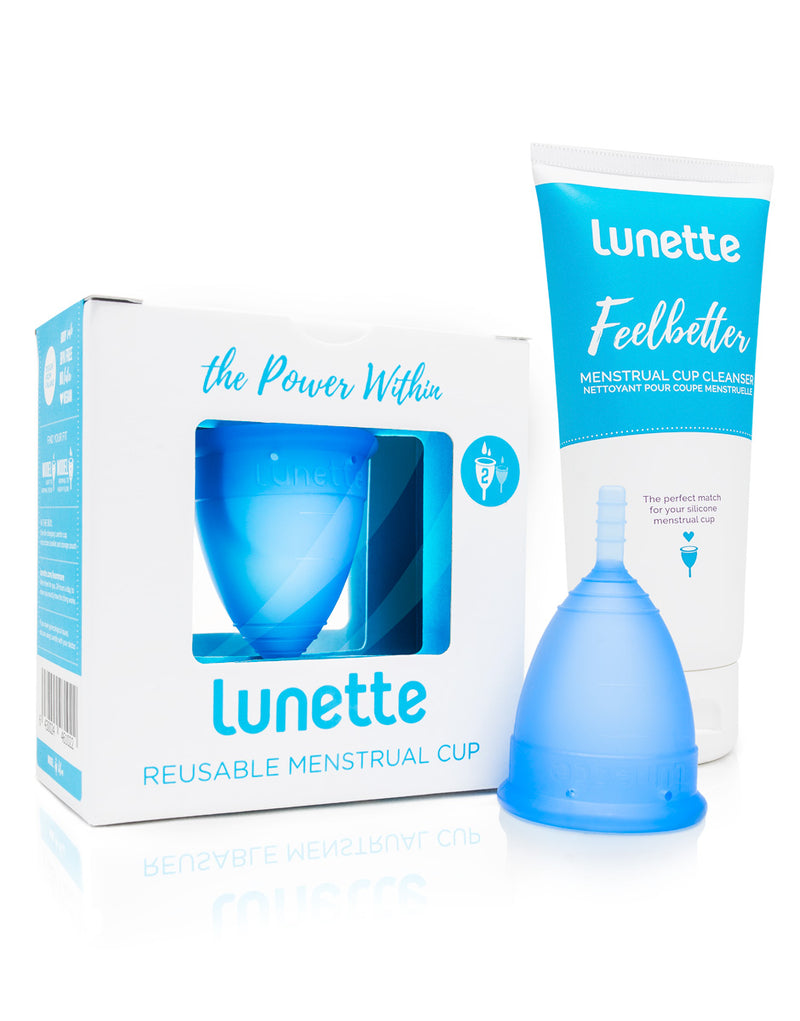 Menstrual Cup Starter Kit With Menstrual Cup Cleanser - Lunette