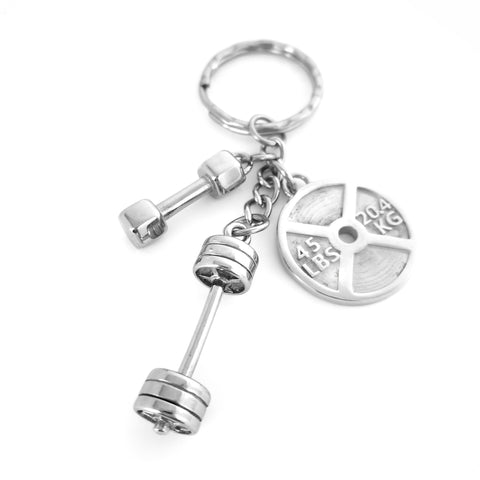 Love to Lift Key Chain (Stainless Steel)
