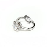 Engagement Ring Charm (rhodium plated brass)