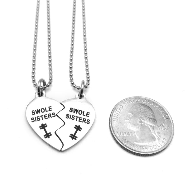 Swole Sisters Stainless Steel Necklace Set