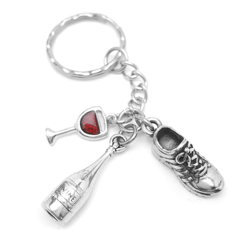 Run Now Wine Later Keychain