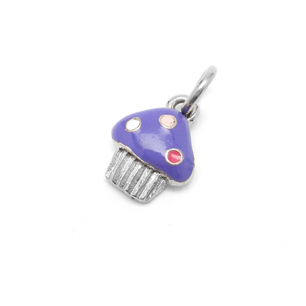 Cupcake Charm - Available in Hot Pink, Purple or Light Pink