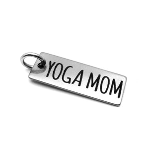 Yoga Mom Stainless Steel Charm
