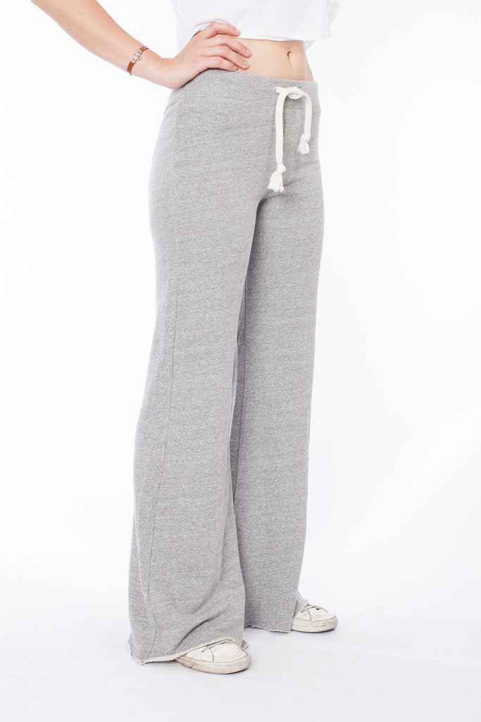 Wide Leg Highwaist Sweatpant - Heather Grey