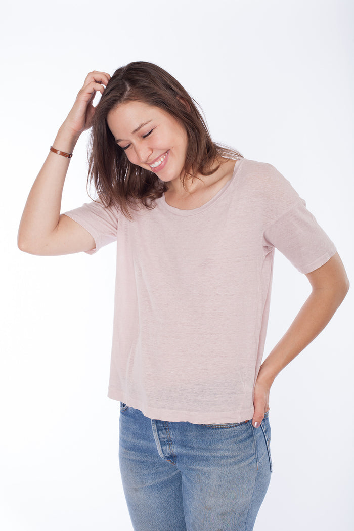 Drop Shoulder Tee - Thistle