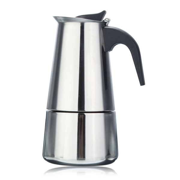 Italian Stainless Steel Espresso Maker 100/200/300ml