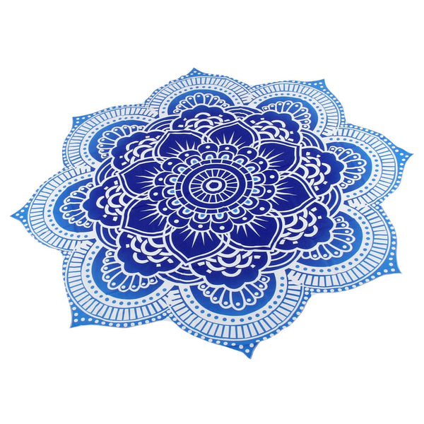 Flower Print Beach Yoga Mat