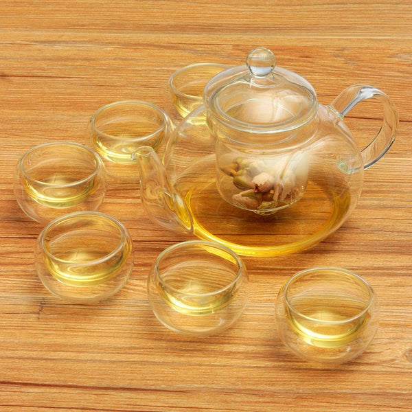 Heat-resistant Glass Tea Pot Set