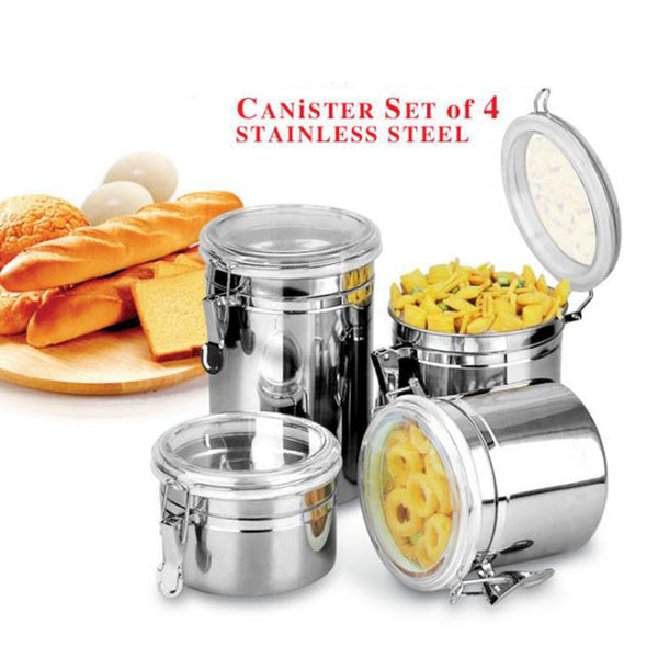 Stainless Steel Airtight Sealed Canister