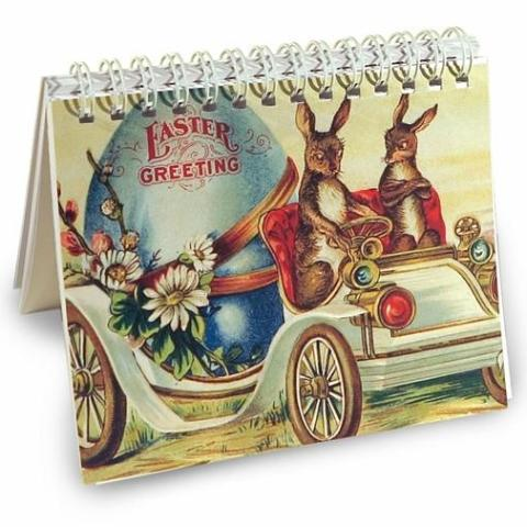 Easter Bunny Car Mini Notebook