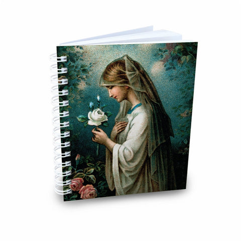 Our Lady of the Mystical Rose Mini Notebook