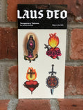 Laus Deo Temporary Tattoos, NEW and Made in the USA