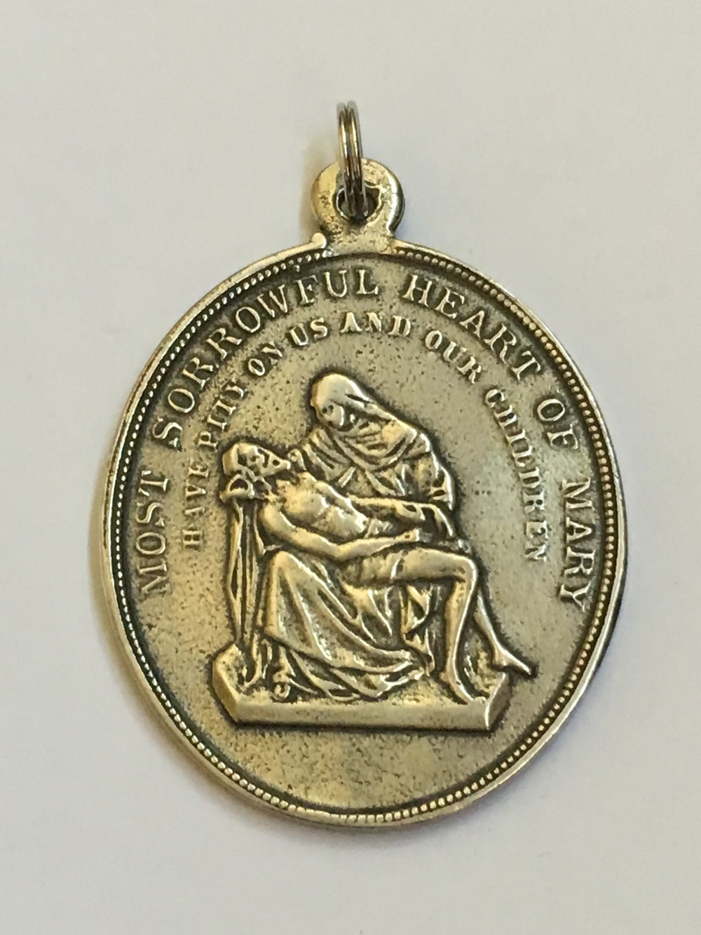 St. Joseph Powerful Intercessor Medal, Pieta (back)