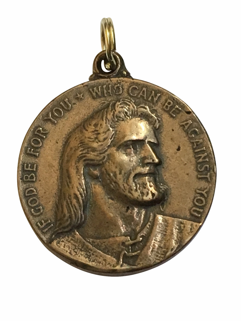 1st AA Chip: If God be for you, Who can be against you Jesus Scripture Medal