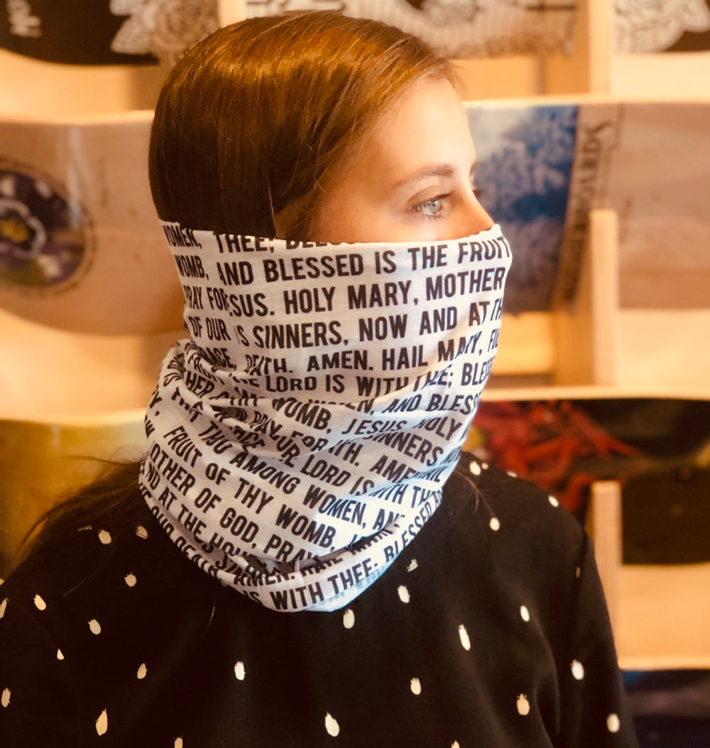 Hail Mary Face/Neck Gaiter Mask, NEW