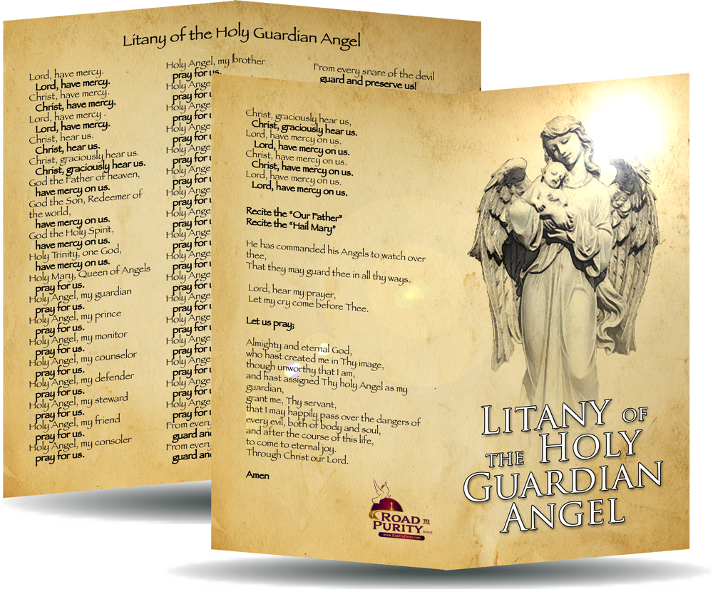 Litany of the Holy Guardian Angel Card
