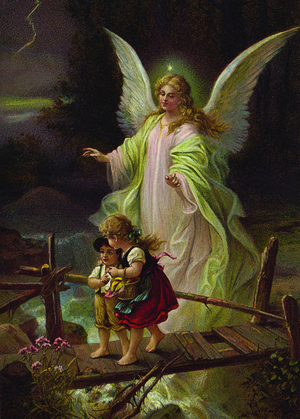 Guardian Angel with Children on Bridge Print 5X7