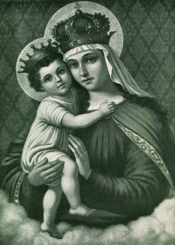 The Queen of Heaven Black & White Print 5X7