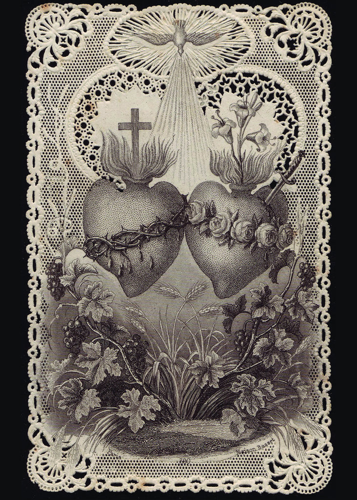 Sacred Heart of Jesus/Immaculate Heart of Mary Print 5X7 ...