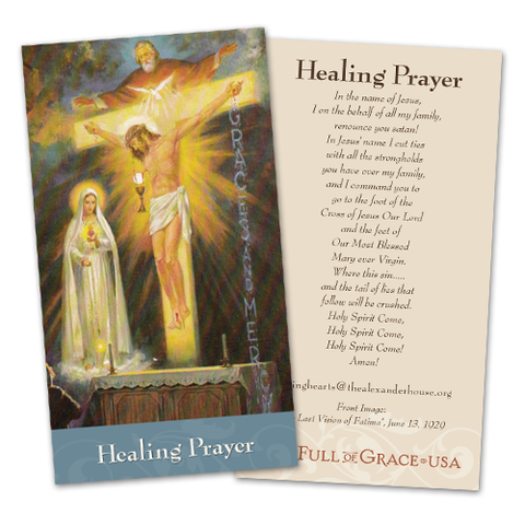 Healing Prayer Card