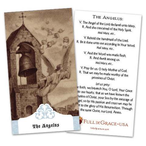 The Angelus Holy Cards