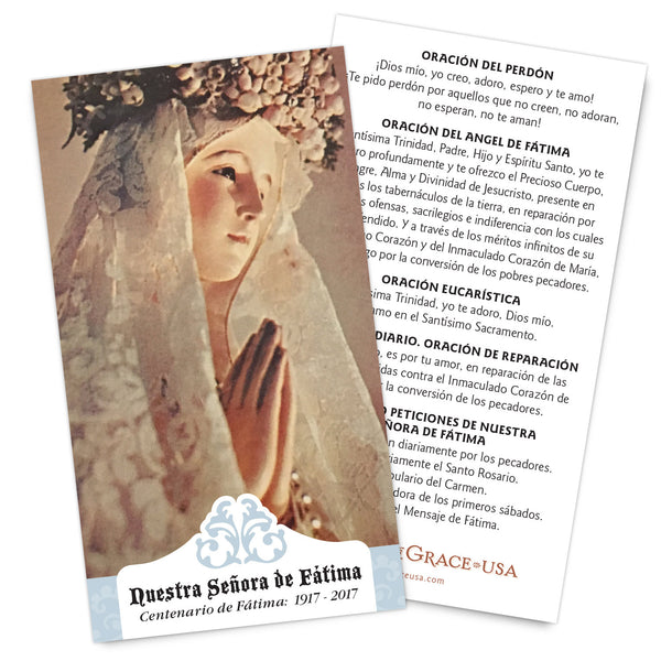 50% OFF:  Nuestra Señora de Fátima - Centenario de Fátima: 1917 - 2017 Holy Cards (Spanish Version)