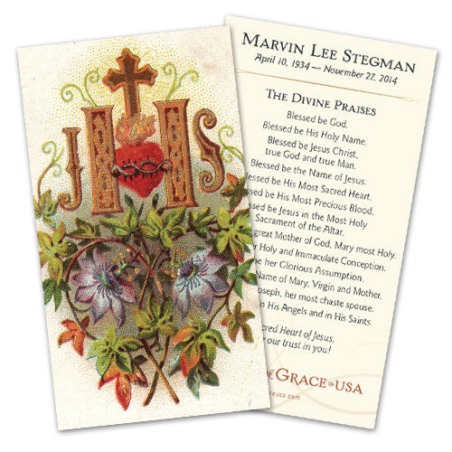 Custom Designed Holy Cards