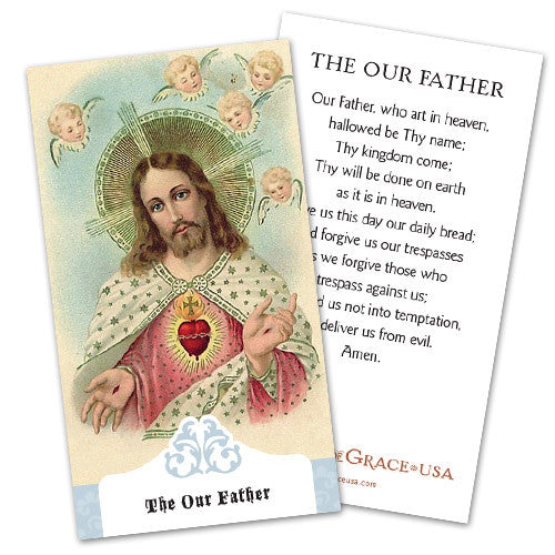 Our Father Holy Cards