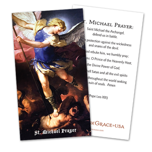 St. Michael Prayer Holy Cards