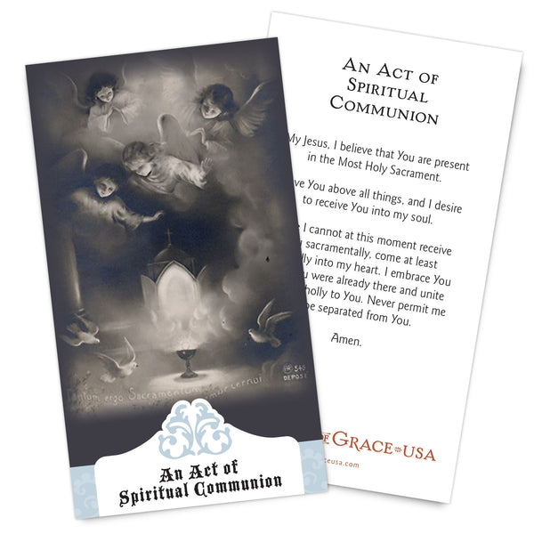 NEW for 2017:  Spiritual Communion Holy Cards