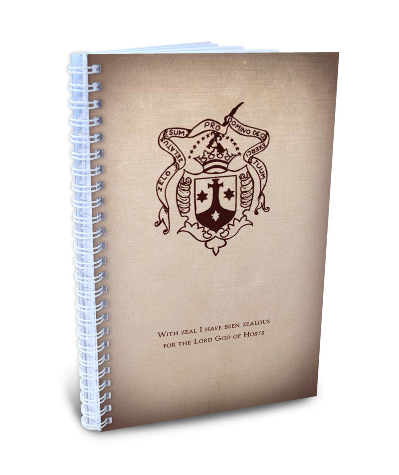 "Carmelite Shield - ""With Zeal"" Writing Journal"