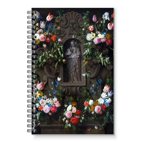 NEW:   Garland of Marian Procession Flowers by Bosschaert Writing Journal.