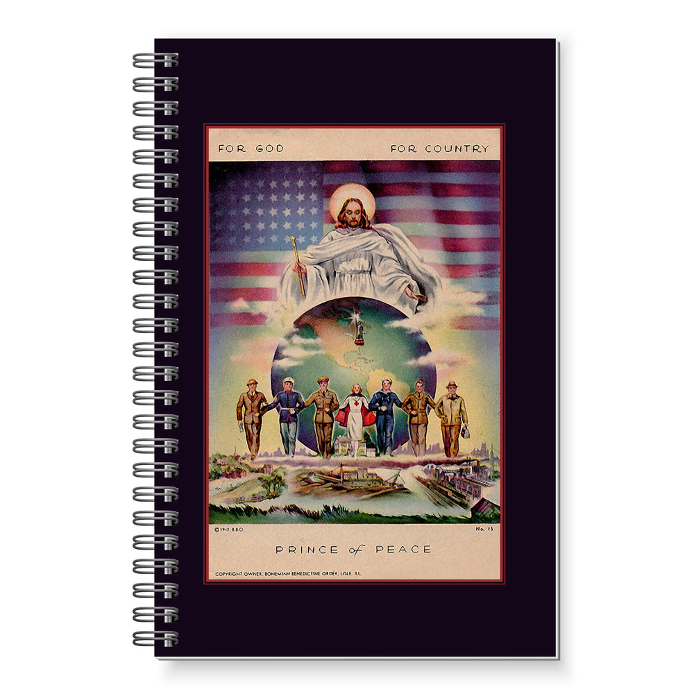 NEW:   For God, For Country - Prince of Peace Writing Journal.