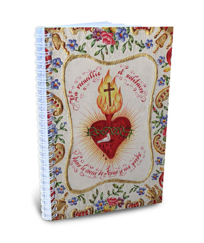 Birds & Sacred Heart Writing Journal (In the Heart of Jesus I lose myself)