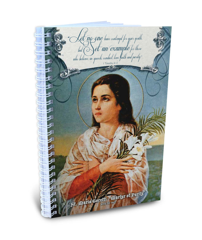 Teen Chastity Girl -  St. Maria Goretti, Martyr of Purity Writing Journal