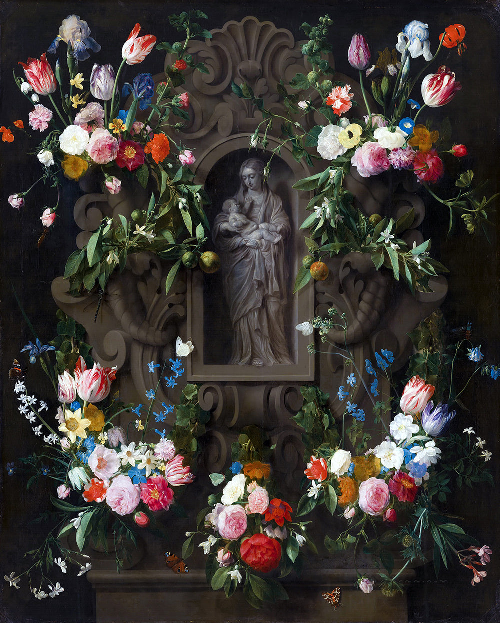 Garland of Marian Flowers Print 5X7